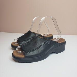 ariat black leather sandal clogs